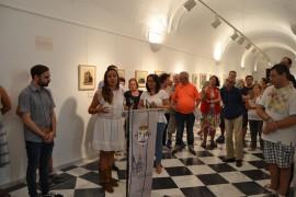 La alcaldesa de Jerez de los Caballeros ha inagurado la exposición